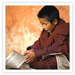 Younger Monk reading a Script